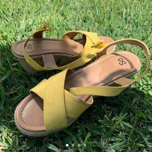 Women's Yellow Wedges